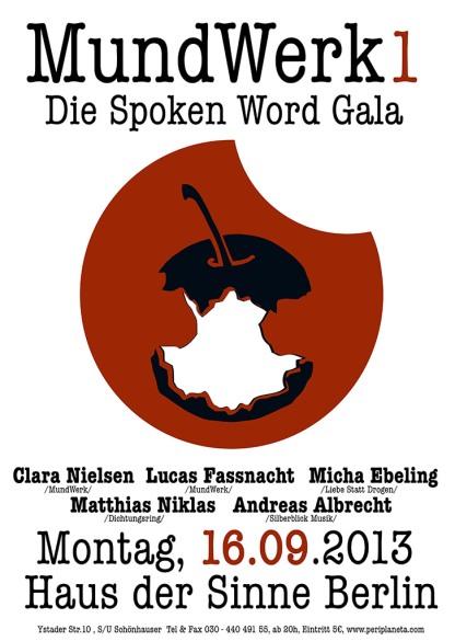Mundwerk- Die Spoken Word Gala im Haus der Sinne zu Berlin